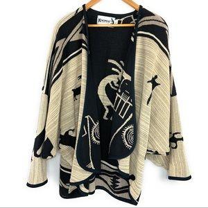 Kokopelli Open Front Cardigan Sweater